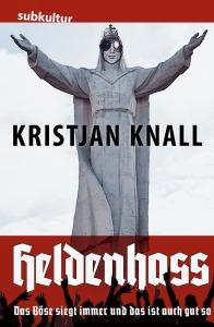 "Cover ""Heldenhass"", Kristjan Knall als Jesus Statue"